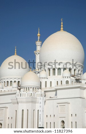Sheikh Zayed Mosque Abu Dhabi UAE - stock photo