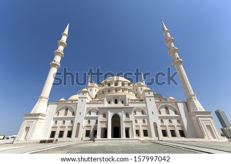 Sheikh Zayed Mosque Fujairah United Arab Emirates - stock photo