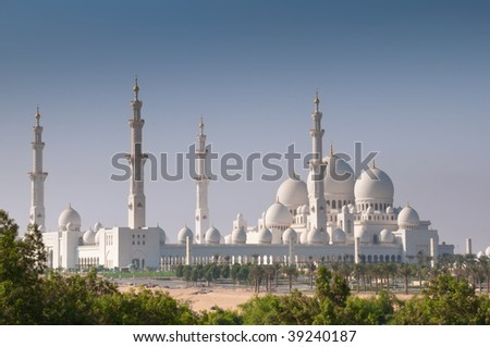 Sheikh Zayed Mosque in Abu Dhabi - stock photo