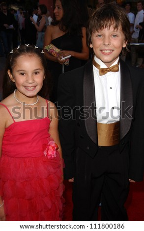 """Shelby Adamowsky and Cole Morgen at the World Premiere of """"I Now Pronounce You Chuck and Larry"""". Gibson Amphitheatre, Studio City, CA. 07-12-07 - stock photo"""