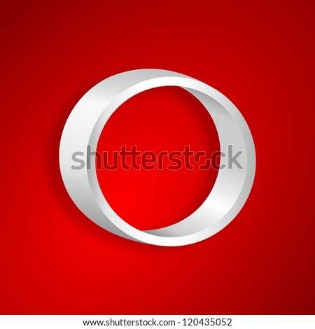 Shelf in the shape of a circle on a red background - stock photo