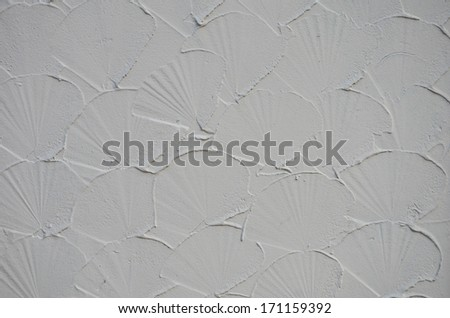 Shell shape plaster walls.  - stock photo