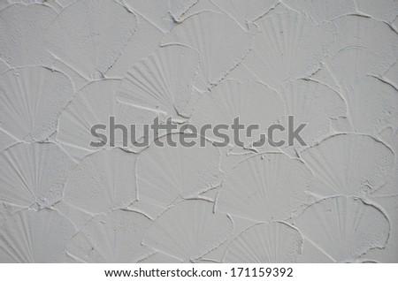 Shell shape plaster walls.  - stock photo
