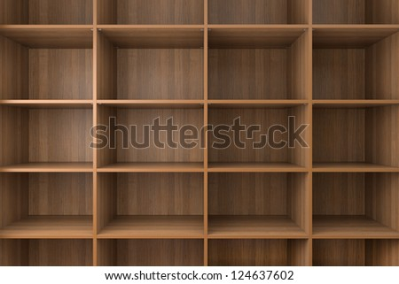 Shelves made of CPD.