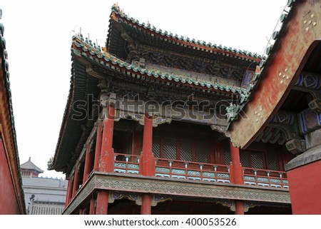 Shenyang Imperial Palace (Mukden Palace) Jingdian Pavilion, Shenyang, Liaoning Province, China. Shenyang Imperial Palace is UNESCO world heritage site built in 400 years ago.