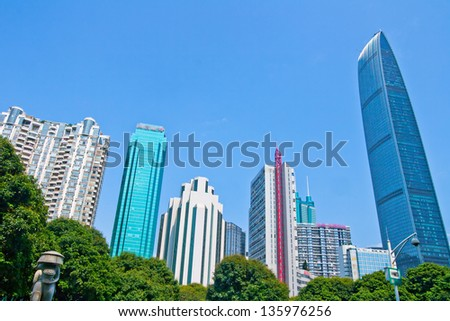 Shenzhen modern building, china - stock photo
