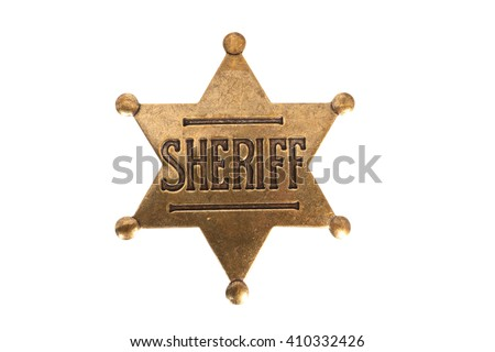 Sheriff Badge - stock photo