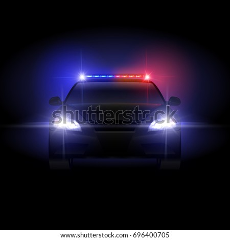Sheriff police car night flashing light 696400705 sheriff police car at night with flashing light illustration police car with siren night mozeypictures Images