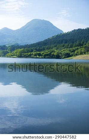 shidaka lake, oita prefecture japan - stock photo