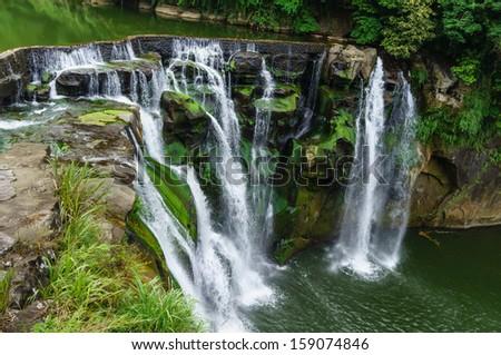 Shifen waterfall, Taiwan Landmark - stock photo