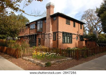 Shingled house, Palo Alto, California - stock photo