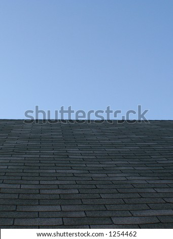 Shingles on a rooftop - stock photo