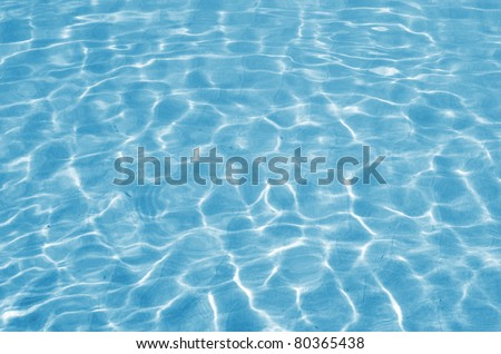 Shining blue water background