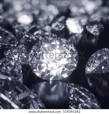 Shining diamonds - stock photo