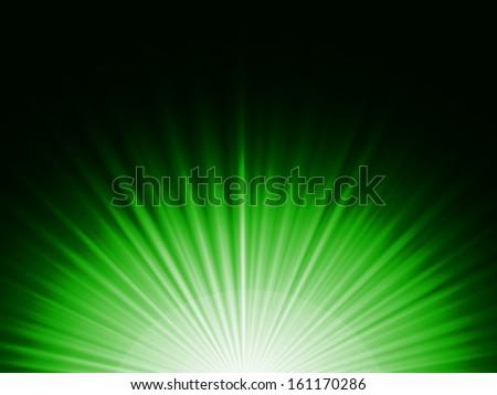 Shining Green Background - stock photo