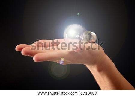 shining idea for gift - stock photo
