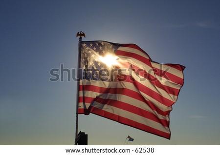 Shining Old Glory - stock photo