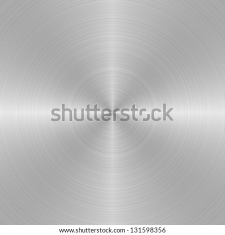 Shining sanded metal - stock photo