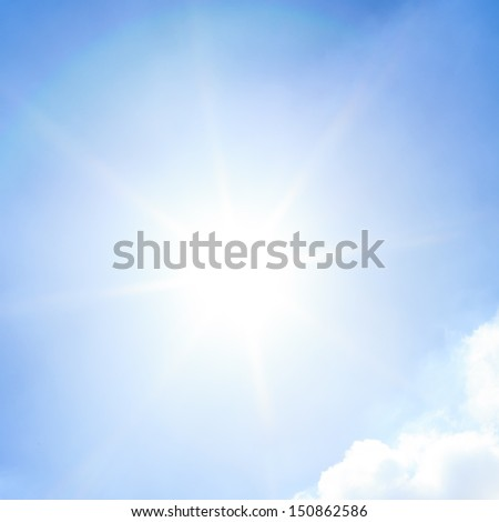 Shining sun and sky - stock photo
