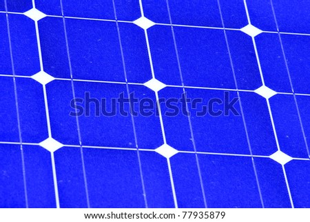 Shining Sun and Solar Panels