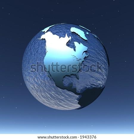 shining world - stock photo