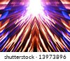 shinning rays and mirror effect - stock photo