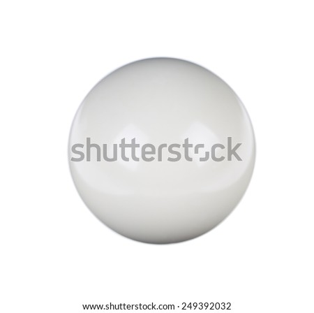 shiny ball for billiard isolated on white background - stock photo