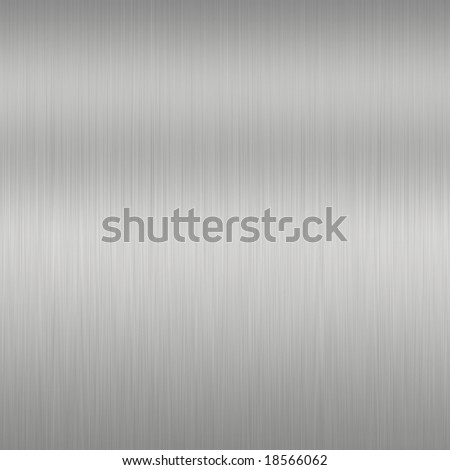 Shiny Brushed Steel. Texture or background - stock photo