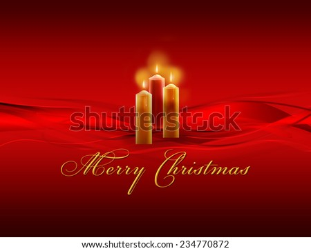 Shiny christmas background with candles. - stock photo