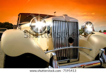 Shiny Classic Car - stock photo