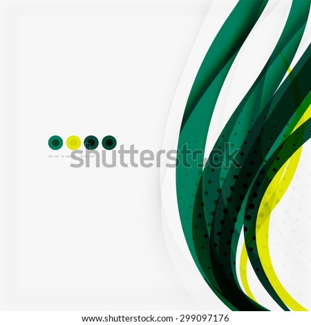 Shiny colorful abstract background, green and blue color. Modern template - stock photo