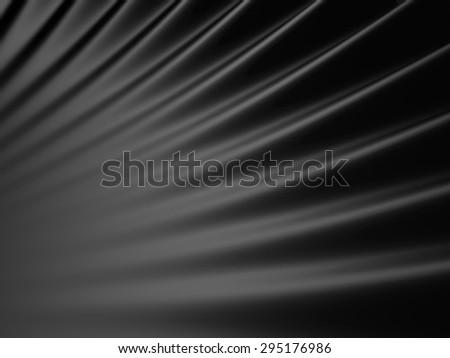 Shiny Dark Black Abstract Background. 3d Render Illustration - stock photo