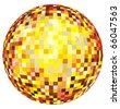 Shiny disco ball design - stock photo