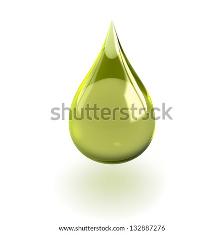 Shiny drop isolated on white background useful for oil or detergent advertising - stock photo