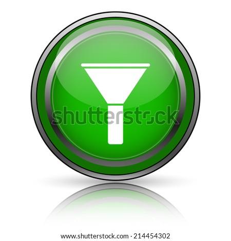 Shiny glossy icon on white background - stock photo