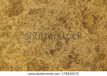 Shiny gold leaf texture - stock photo