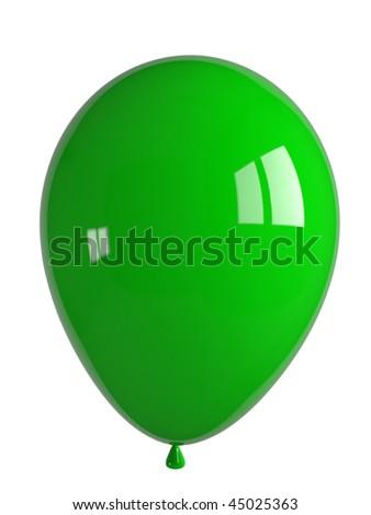 shiny green balloon - stock photo