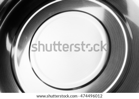 Shiny metal texture background, Black and white photo