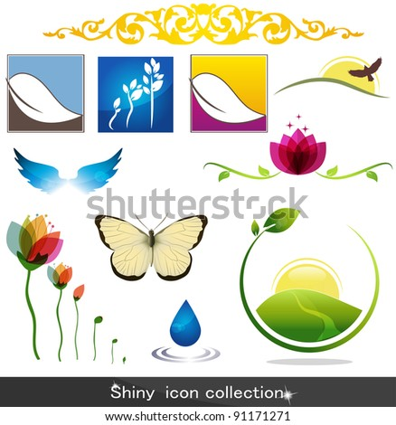 Shiny nature icons