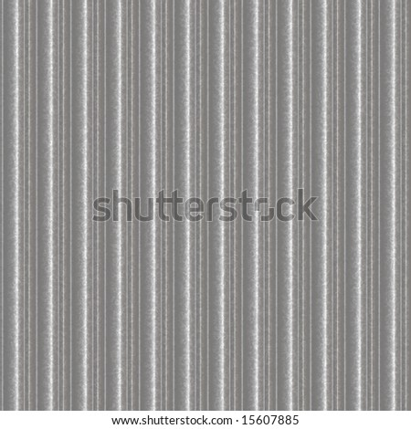 shiny new zinc sheets that can be seamlessly tile - stock photo