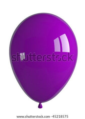 shiny purple balloon - stock photo
