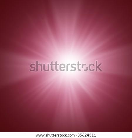 Shiny rays of sunlight like a cross - stock photo