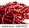 Shiny red beads - stock photo