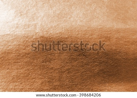 Shiny red copper bronze brass paper foil decorative texture background: Bright brilliant festive glossy metallic look textured backdrop: Metal steel like material pattern surface design decoration  - stock photo