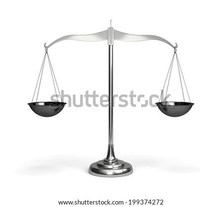 Shiny scales. 3d image. White background. - stock photo