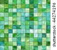 Shiny seamless green tiles texture - stock photo
