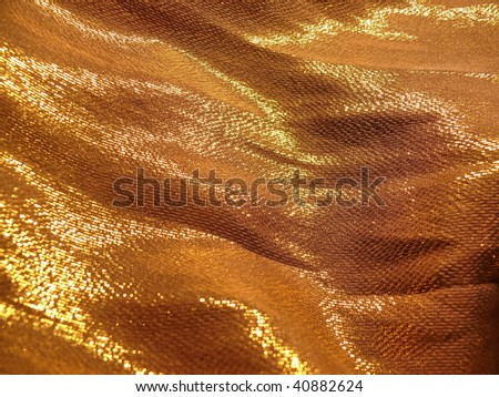 shiny silky satin fabric closeup. Ideal for Christmas designs. More of this motif & more textiles in my port. - stock photo