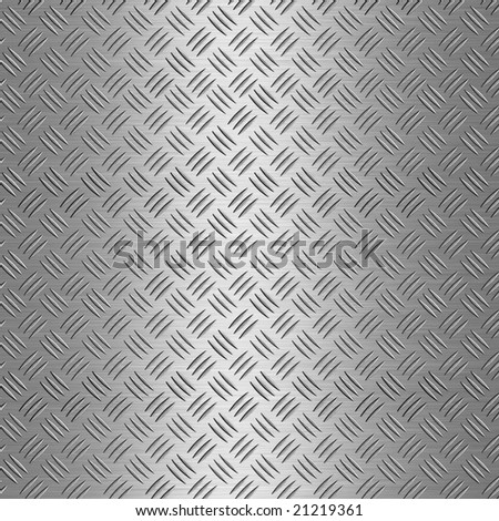 Shiny Silver Metal Diamond Shaped Aluminium Plate Background - stock photo
