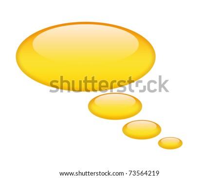 Shiny speech bubble - stock photo