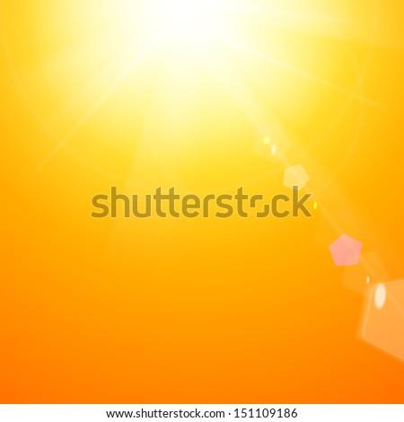Shiny sunburst of sunbeams.  illustration. - stock photo